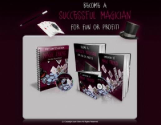 Product picture Magic Tricks Template with 2 PLR eBook & 1 Audio Book PLR/RR